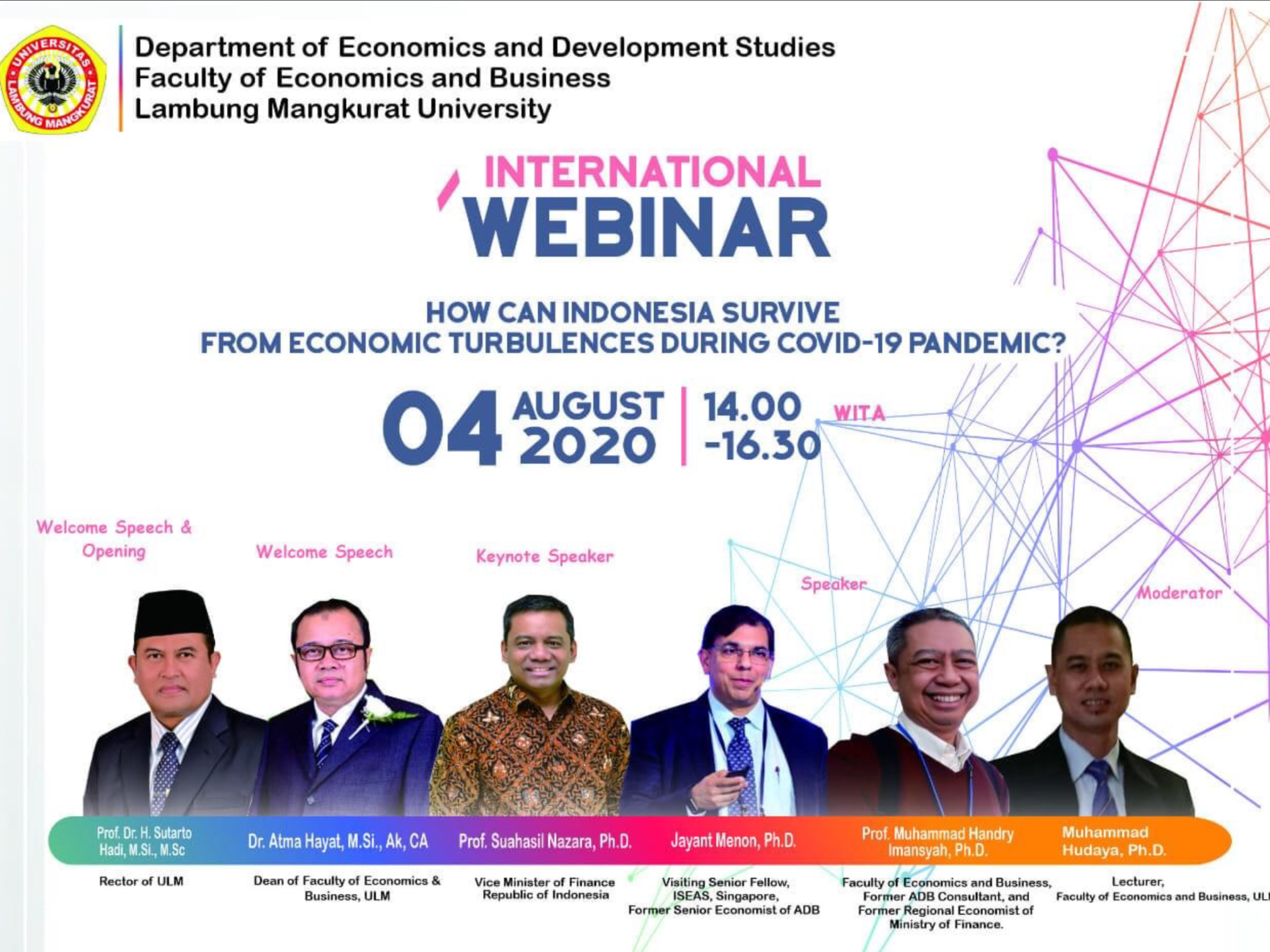 International Webinar - How Can Indonesia Survive from Economic Turbulences During Covid-19 Pandemic?